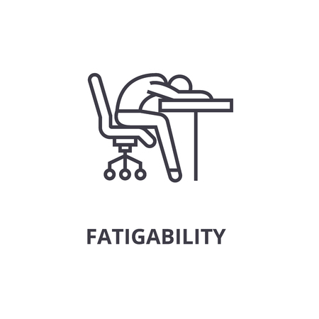 Fatigability thin line icon