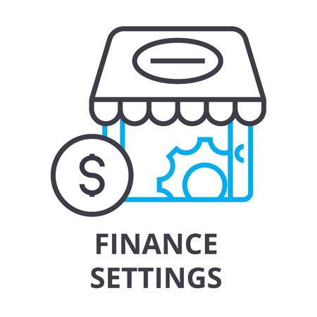 Finance settings thin line icon