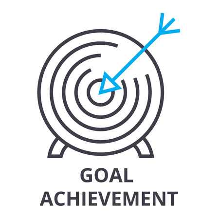 Goal achievement thin line icon