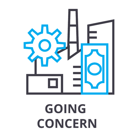 Going concern thin line icon
