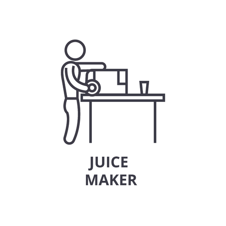 juice maker thin line icon, sign, symbol, illustation, linear concept vector