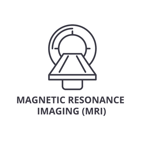 magnetic resonance imaging (mri) thin line icon, sign, symbol, illustation, linear concept vector