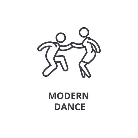 modern dance thin line icon, sign, symbol, illustation, linear concept vector Reklamní fotografie - 100104447