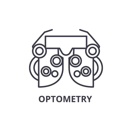 optometry thin line icon, sign, symbol, illustation, linear concept vector