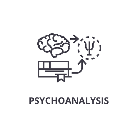 psychoanalysis thin line icon, sign, symbol, illustation, linear concept vector