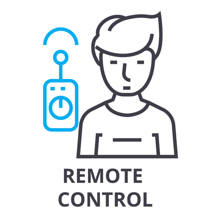 remote control thin line icon, sign, symbol, illustation, linear concept vector