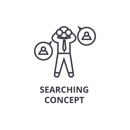 Searching concept thin line icon