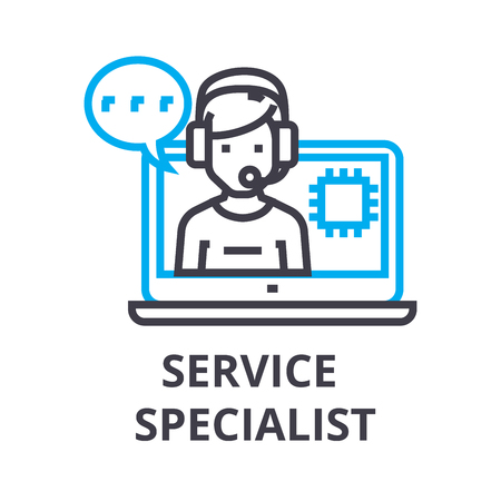 Service specialist thin line icon 일러스트