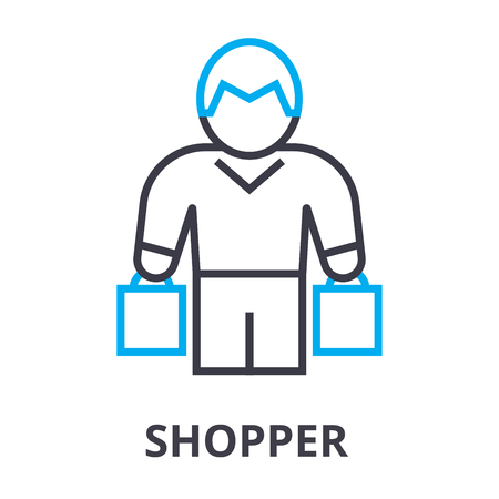 Shopper thin line icon