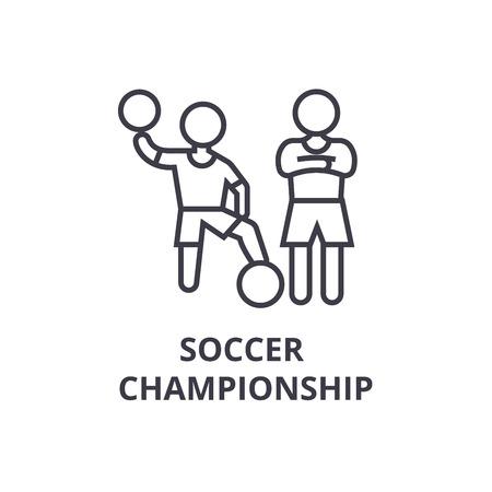 Soccer championship thin line icon Illusztráció