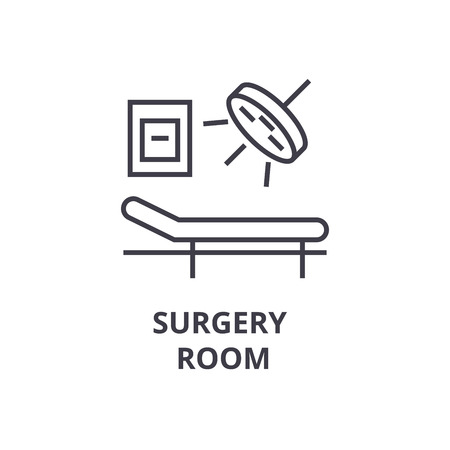 Surgery room thin line icon