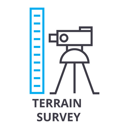 Terrain survey thin line icon