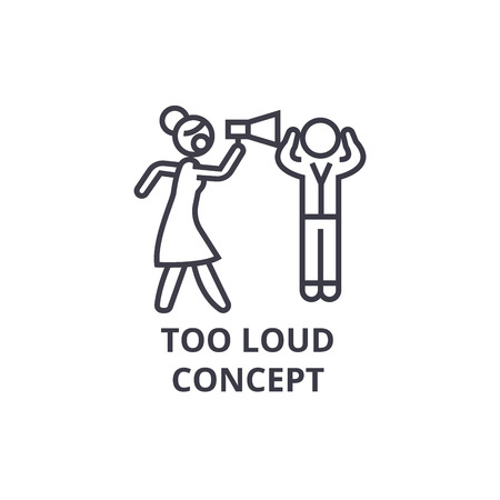 Simple too loud concept thin line icon