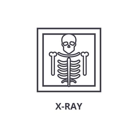 Eenvoudige x-ray dunne lijn pictogram Vector Illustratie