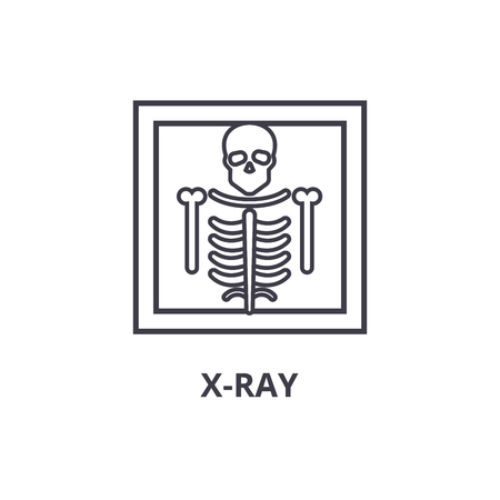 Simple x ray thin line icon