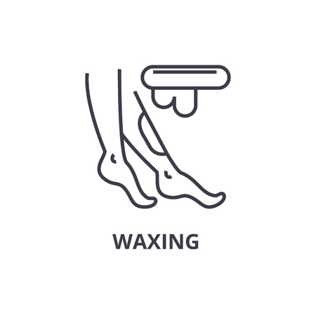 waxing thin line icon, sign, symbol, illustation, linear concept vector