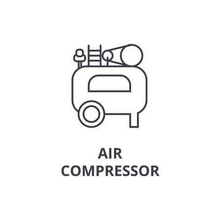 air compressor line icon, concept sign, linear vector Illustration