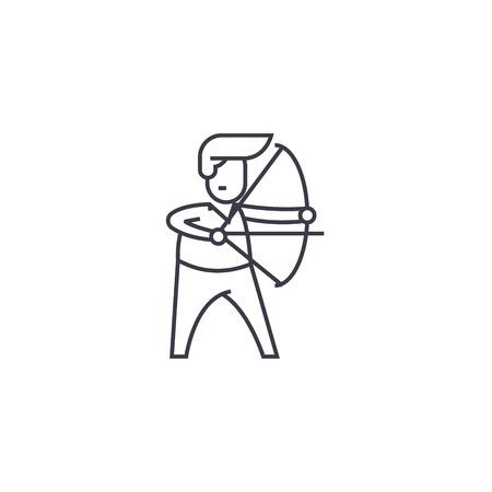 chairman vector line icon, sign, illustration on white background, editable strokes Illusztráció