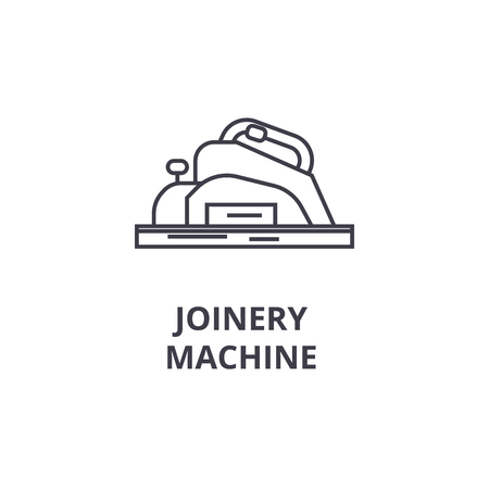 joinery machine vector line icon, sign, illustration on white background, editable strokes