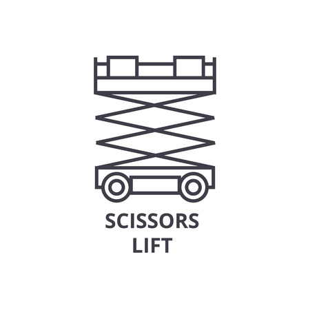Scissors lift icon