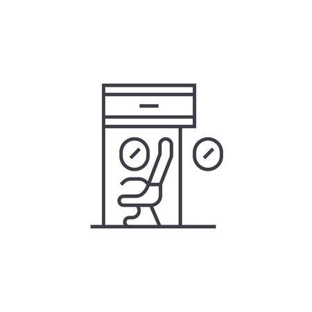 Scientific workplace icon Illusztráció