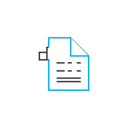 Analytical report vector thin line stroke icon. Analytical report outline illustration, linear sign, symbol isolated concept.