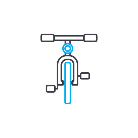 Bicycle vector thin line stroke icon. Bicycle outline illustration, linear sign, symbol isolated concept.