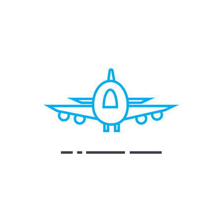 Air delivery vector thin line stroke icon. Air delivery outline illustration, linear sign, symbol isolated concept. Illustration
