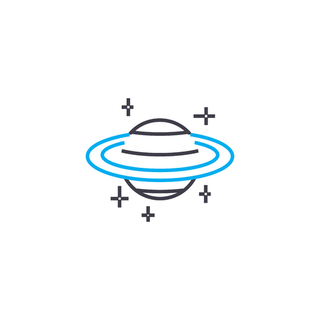 Astronomic observations vector thin line stroke icon. Astronomic observations outline illustration, linear sign, symbol isolated concept.