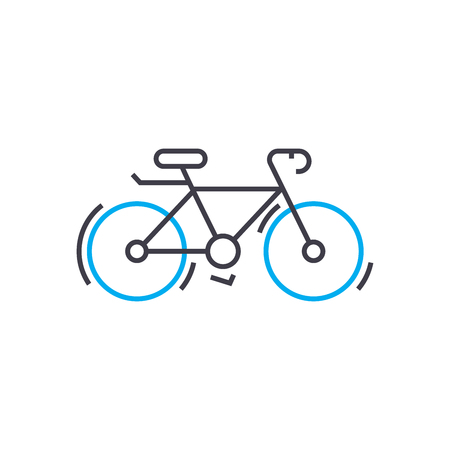 Cycle outline illustration, linear sign, symbol isolated concept.