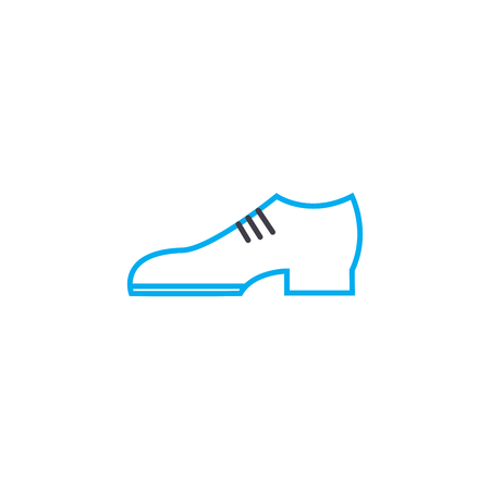 Classic shoes outline illustration, linear sign, symbol isolated concept. Stok Fotoğraf - 101247492