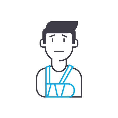 Casualty insurance vector thin line stroke icon.