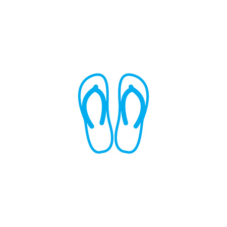 Flip flops vector thin line stroke icon. Flip flops outline illustration, linear sign, symbol isolated concept.