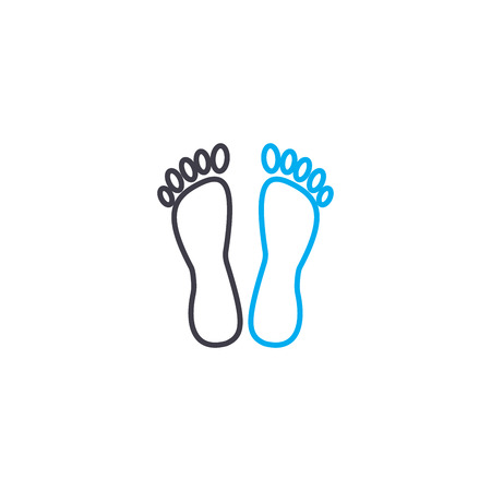 Foot care vector thin line stroke icon. Foot care outline illustration, linear sign, symbol isolated concept.