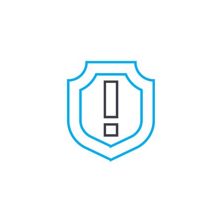 General insurance vector thin line stroke icon. General insurance outline illustration, linear sign, symbol isolated concept.