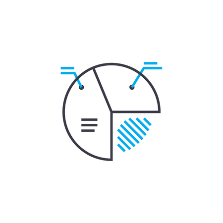 Important element vector thin line stroke icon. Important element outline illustration, linear sign, symbol isolated concept.