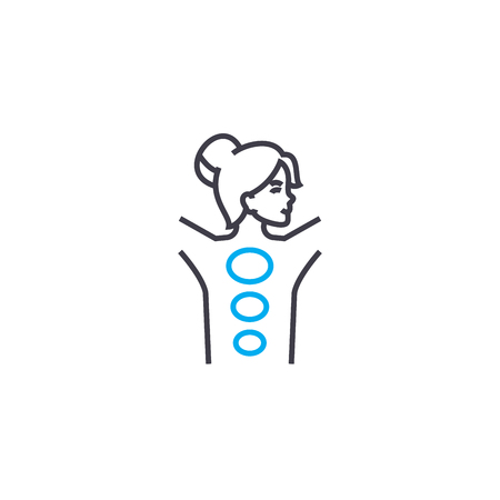 Manual therapy vector thin line stroke icon. Manual therapy outline illustration, linear sign, symbol isolated concept.