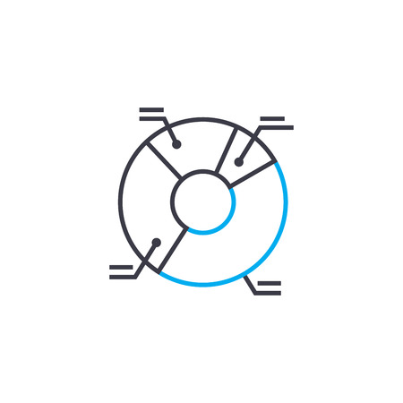 Legend of the diagram vector thin line stroke icon. Legend of the diagram outline illustration, linear sign, symbol isolated concept.