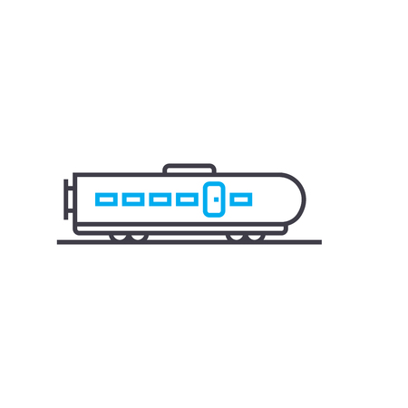 High speed train vector thin line stroke icon. High speed train outline illustration, linear sign, symbol isolated concept. Illustration