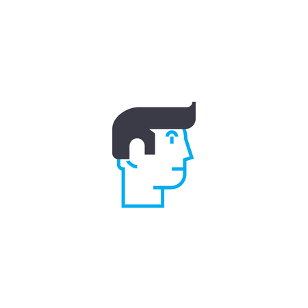 Individual vision vector thin line stroke icon. Individual vision outline illustration, linear sign, symbol isolated concept.