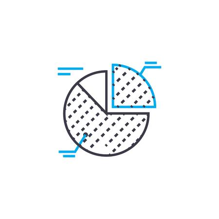 Interpretación de elementos vector icono de trazo de línea fina. Interpretación de elementos ilustración de esquema, signo lineal, concepto aislado de símbolo.