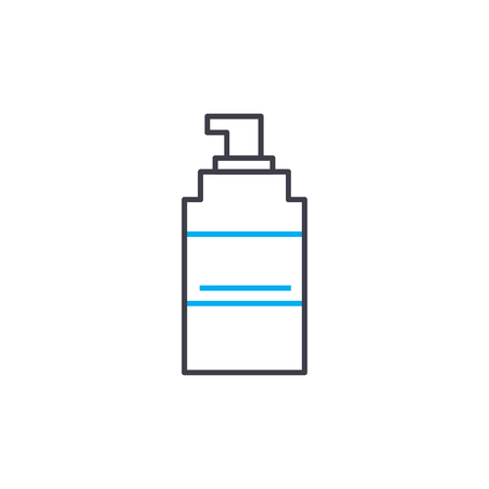Means of disinfection vector thin line stroke icon. Means of disinfection outline illustration, linear sign, symbol isolated concept.