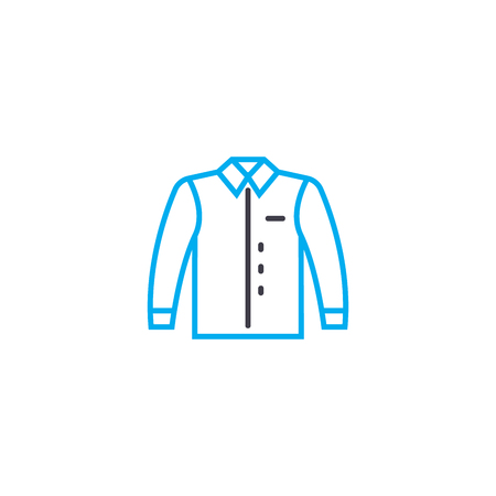 Mens jacket vector thin line stroke icon. Mens jacket outline illustration, linear sign, symbol isolated concept.
