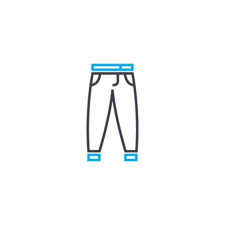 Mens jeans vector thin line stroke icon. Mens jeans outline illustration, linear sign, symbol isolated concept. 일러스트