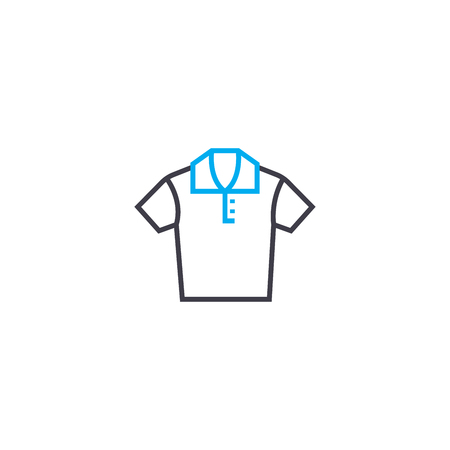 Mens shirt vector thin line stroke icon. Mens shirt outline illustration, linear sign, symbol isolated concept.