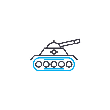 Military units vector thin line stroke icon. Military units outline illustration, linear sign, symbol isolated concept. Stock Vector - 101255525