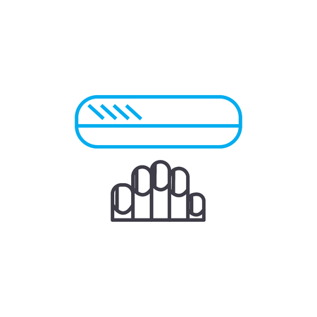 Nail care vector thin line stroke icon. Nail care outline illustration, linear sign, symbol isolated concept.