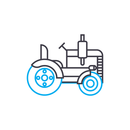 Road roller vector thin line stroke icon. Road roller outline illustration, linear sign, symbol isolated concept.