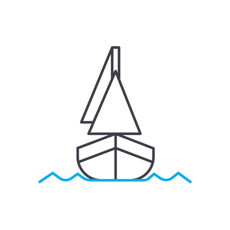 Shipping vector thin line stroke icon. Shipping outline illustration, linear sign, symbol isolated concept. Illustration