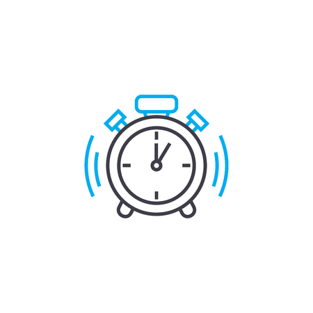 Punctuality vector thin line stroke icon. Punctuality outline illustration, linear sign, symbol isolated concept. 일러스트